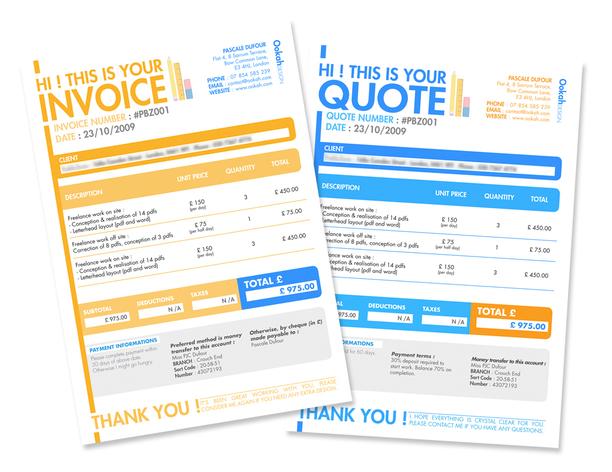 Bold Invoice Sample
