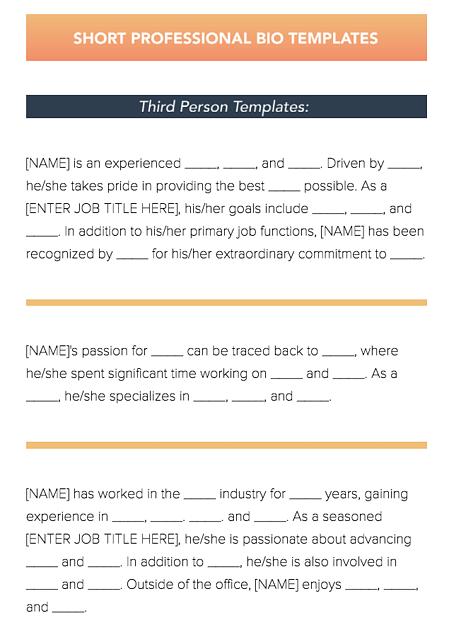 11 free templates every small business needs in 2018 professional bio templates flashek Gallery