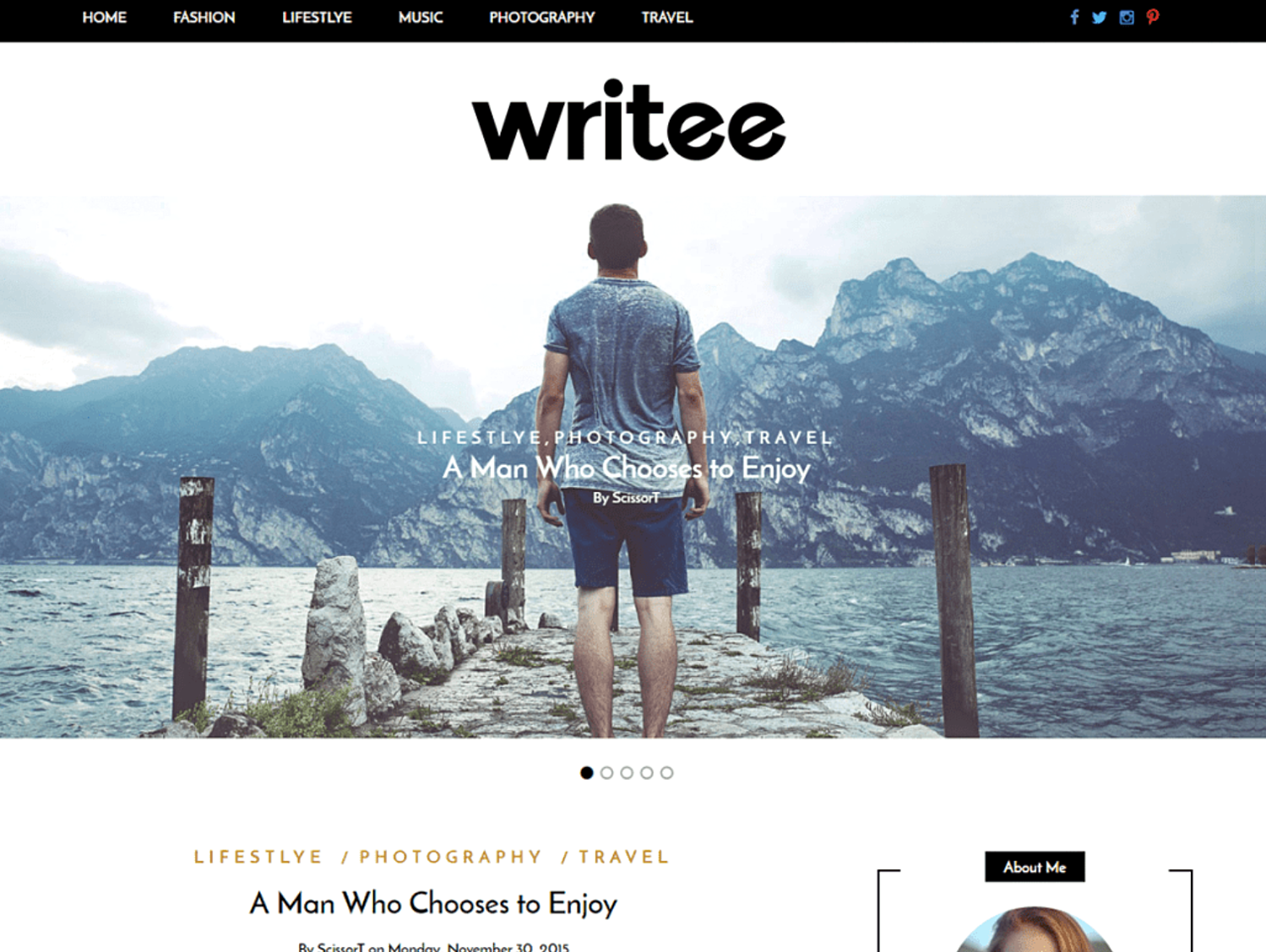 writee-simple-wordpress-theme
