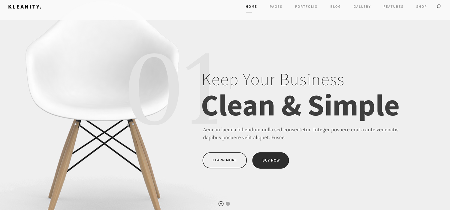 kleanity-simple-wordpress-theme