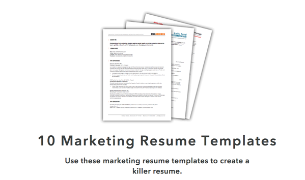 HubSpot's marketing resume templates.