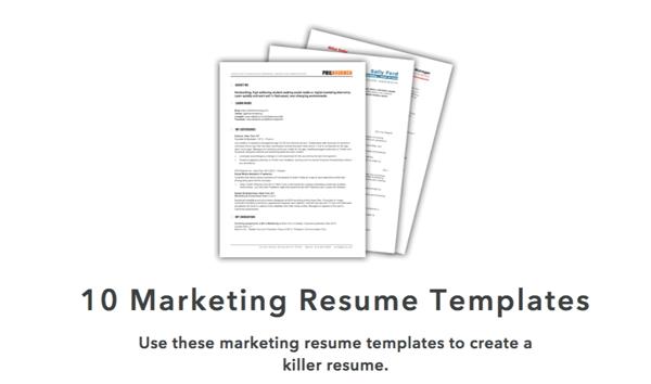 HubSpots Marketing Resume Templates.