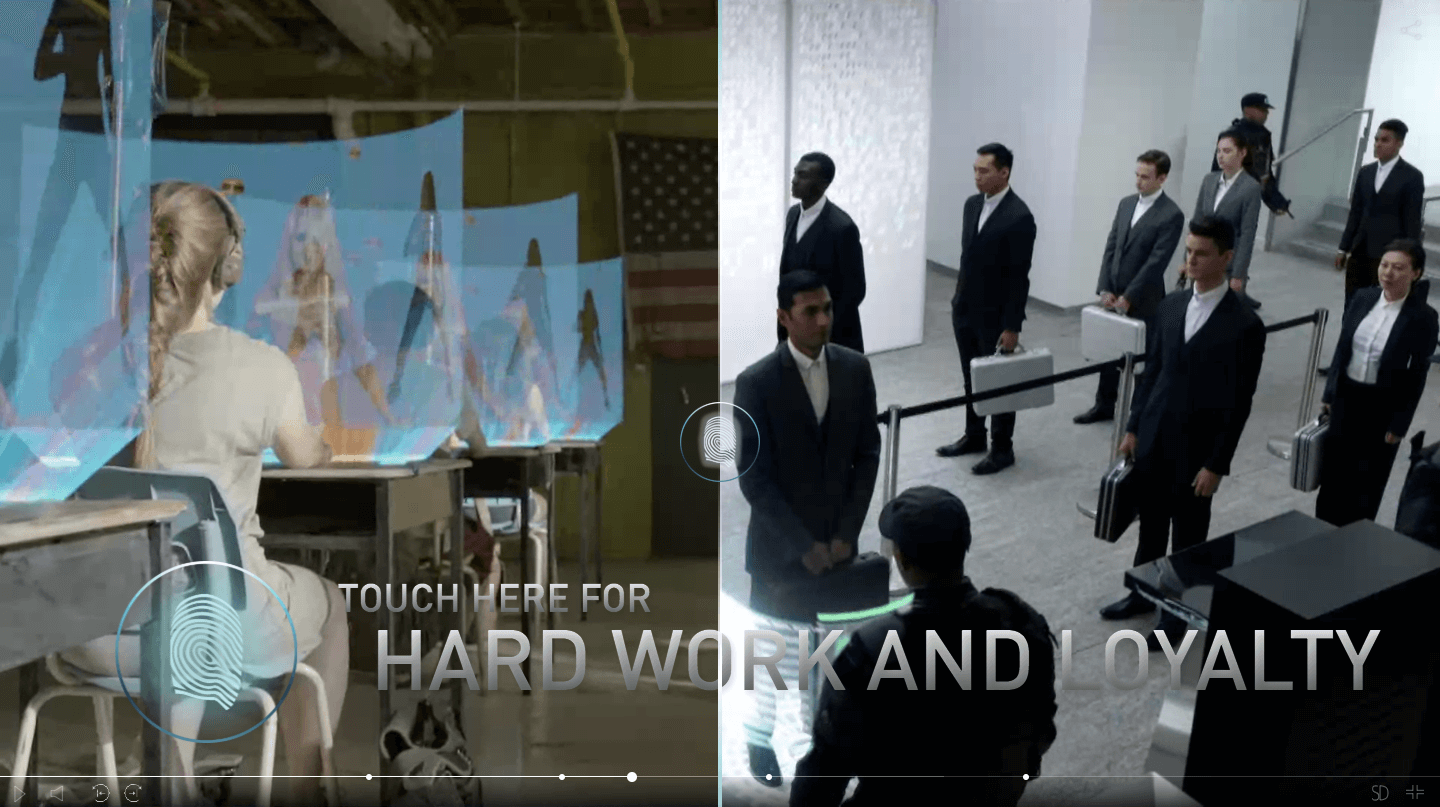 Incorporated interactive trailer by Syfy