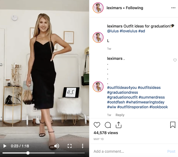 brand influencer lexi mars - instagram influencer marketing