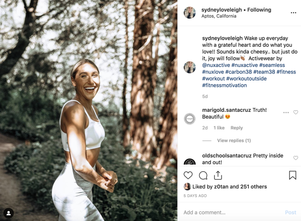 micro influencer sydney loveleigh