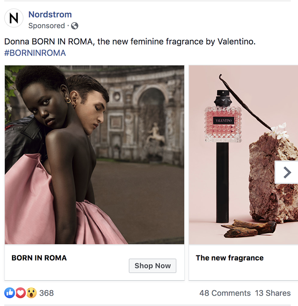nordstorm-perfume-paid-facebook-ad