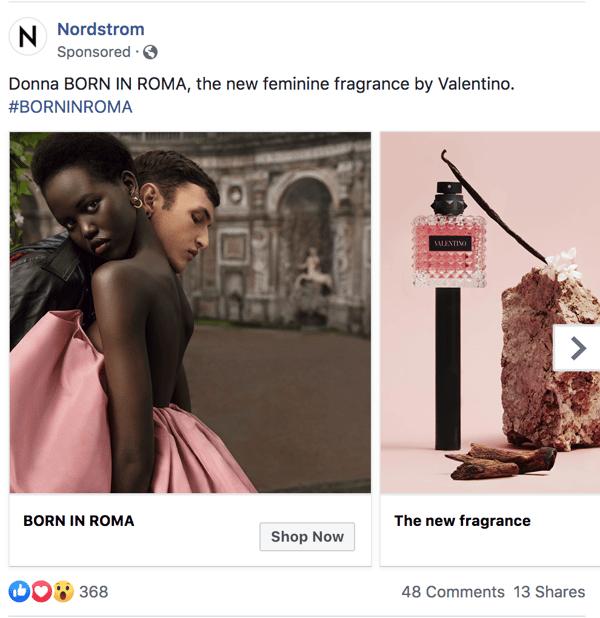 nordstorm-perfume-paid-facebook-ad