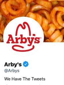 Funny Twitter bio from @Arbys