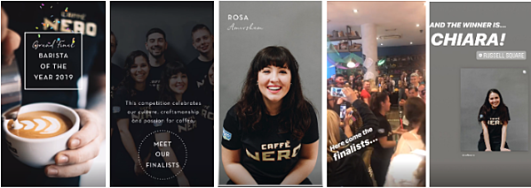 Caffe Nero Instagram Story
