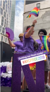 NYU covers Pride Parade in Instagram Story