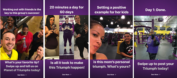 Planet Fitness Instagram Story