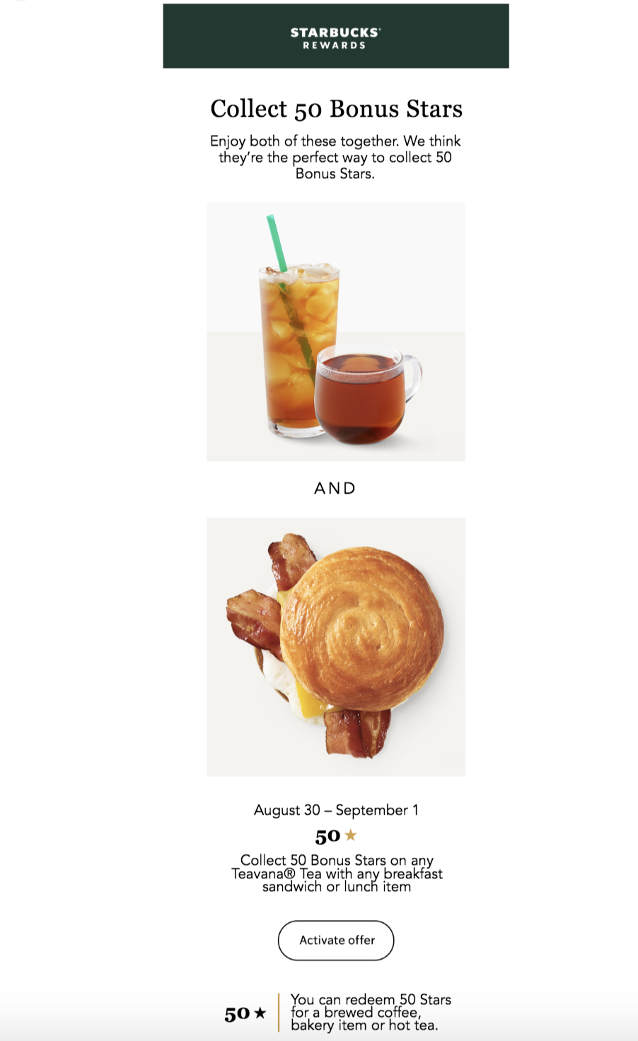 starbucks email design example