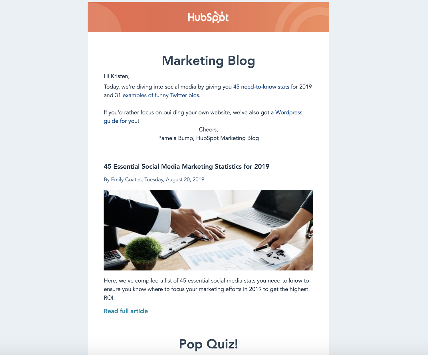 hubspot marketing email email design examples