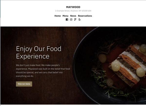 Maywood WordPress Template
