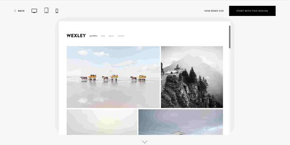 Wexley Portfolio Template from Squarespace