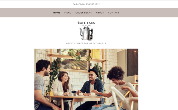 GoDaddy Cafe Faba Template