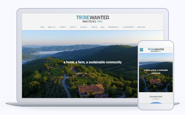 TribeWanted Mobile Optimized Site designed with Strikingly.