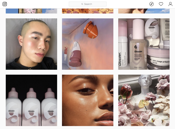 glossier d2c brands marketing instagram