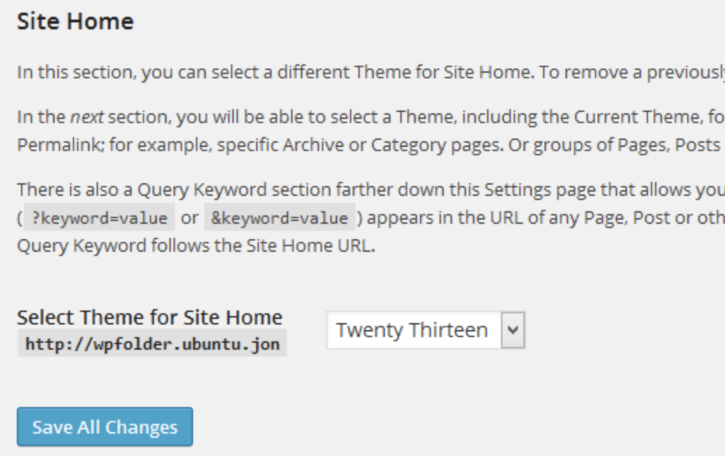 change the theme of your wordpress website homepage