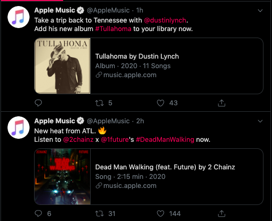 apple music twitter