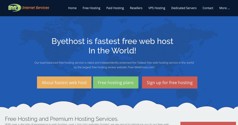 byethost free web hosting service