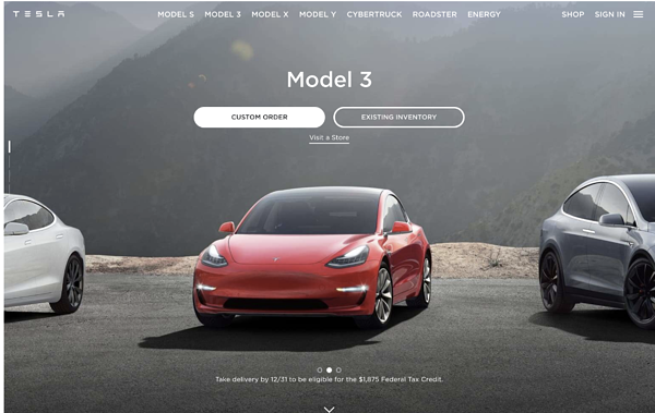 tesla-site-powered-by-drupal-cms