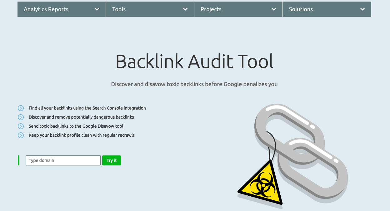 Make SEMrush's backlink audit tool part of your website redesign SEO strategy