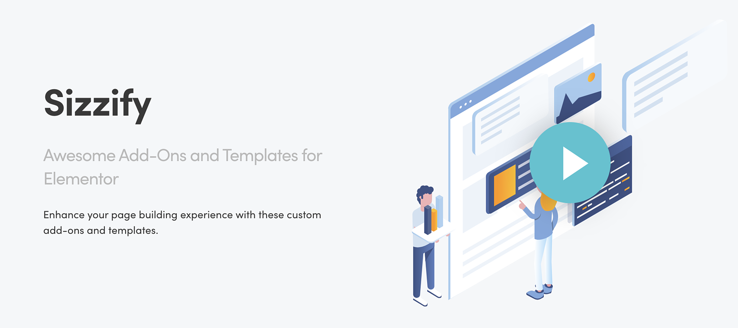 sizzify elementor template