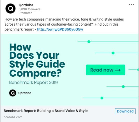 Qordoba marketing messaging benefits example