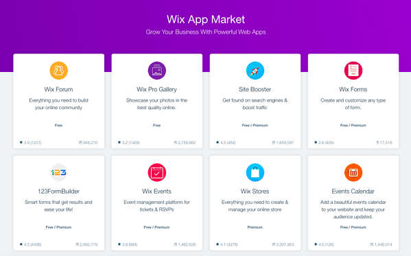 8 free and premium add-ons from the Wix App Market
