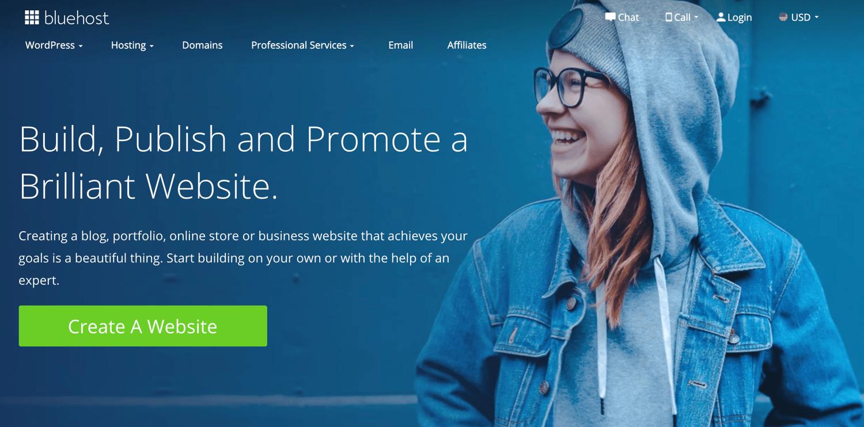 bluehost blog hosting service