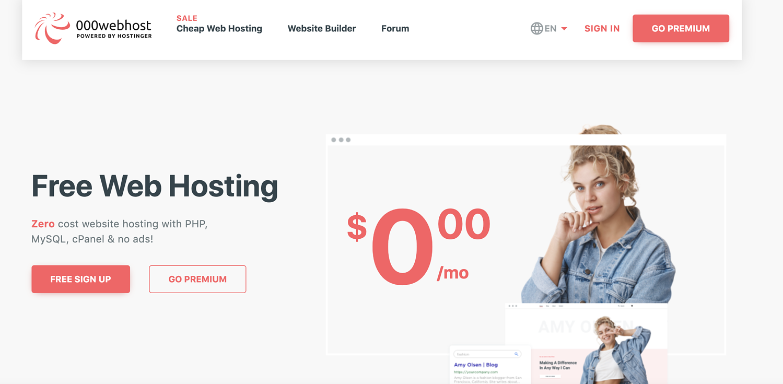000webhost free blog hosting