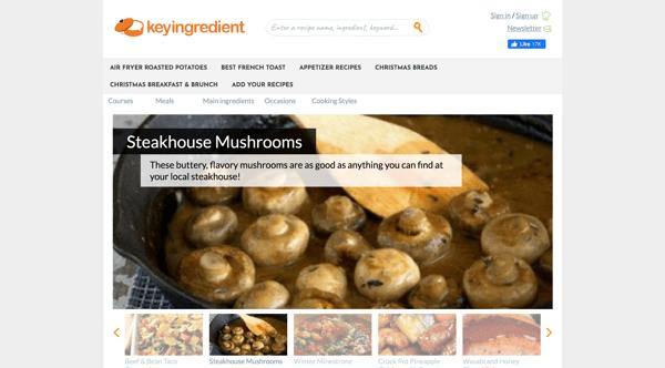 google sites examples keyingredient