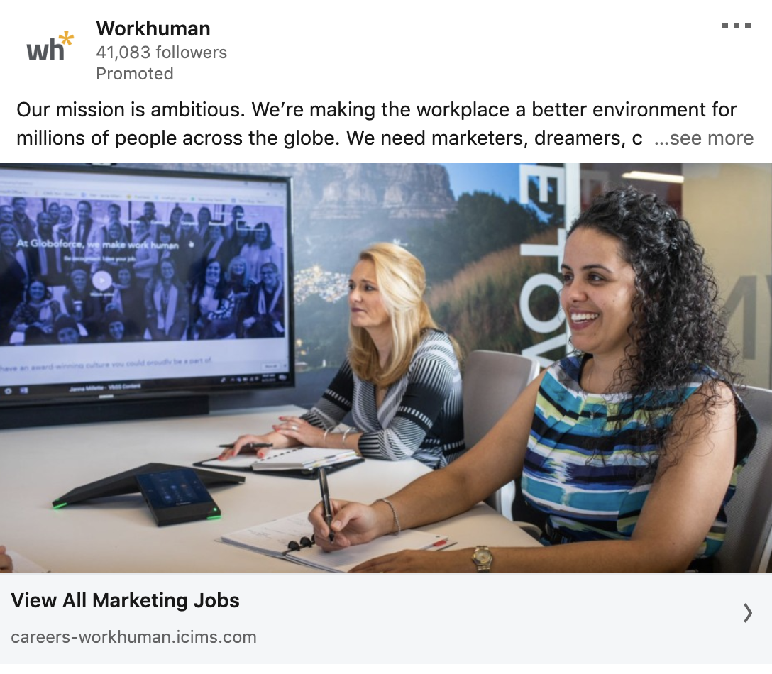 example of linkedin ad
