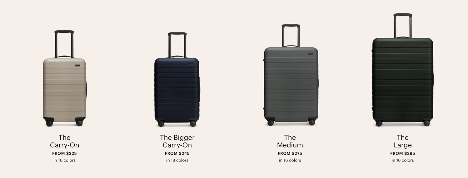 away luggage premium pricing example
