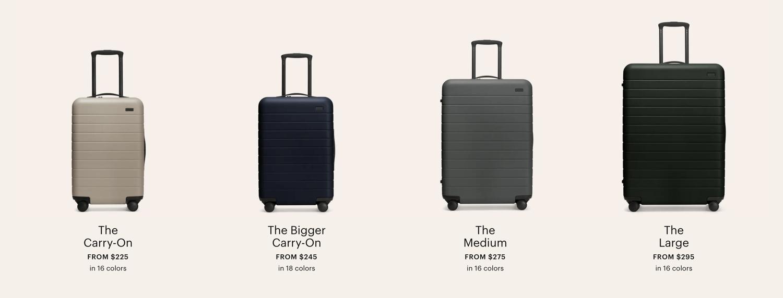 away luggage premium pricing example