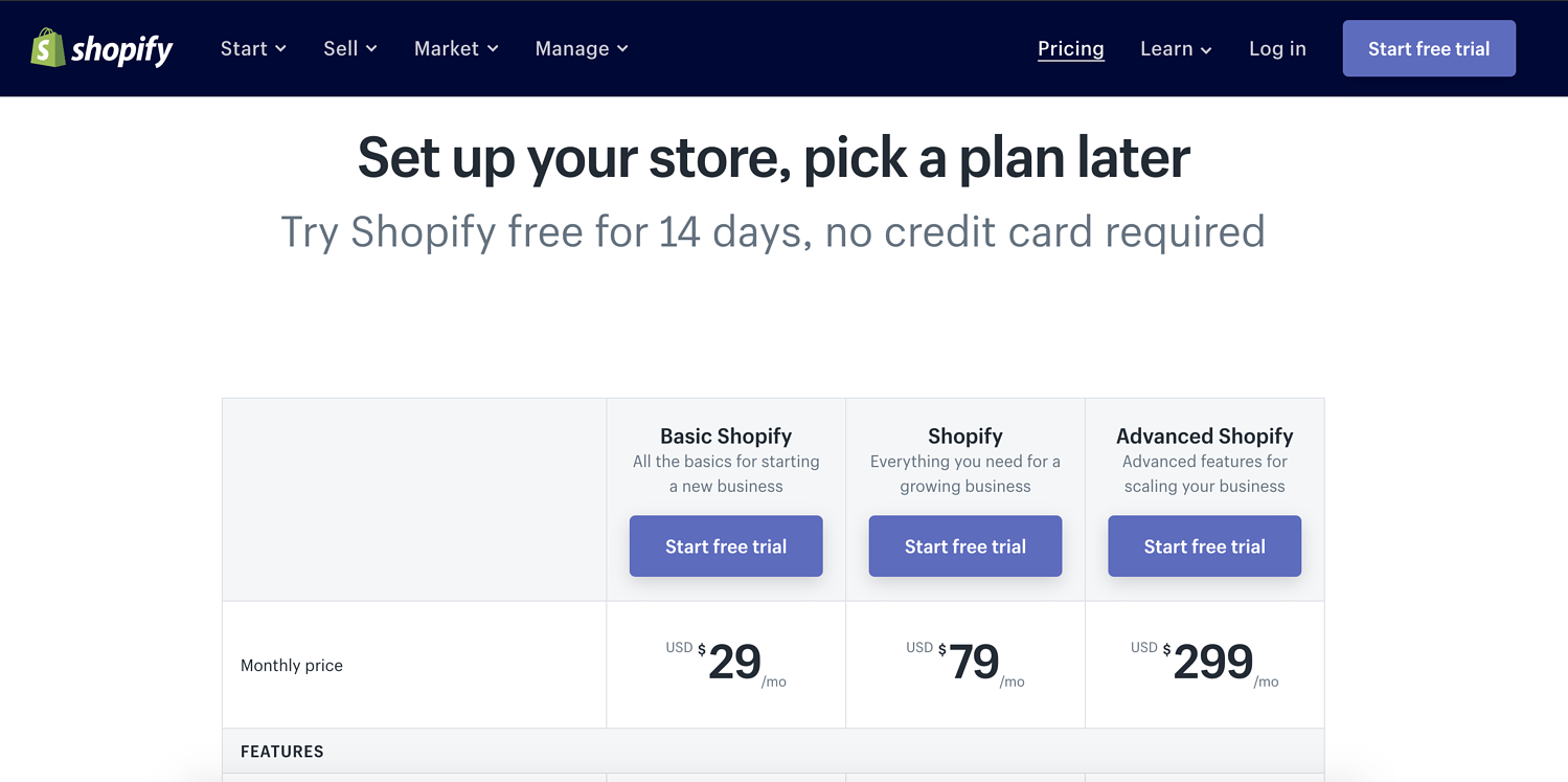 shopify competitive pricing strategy example