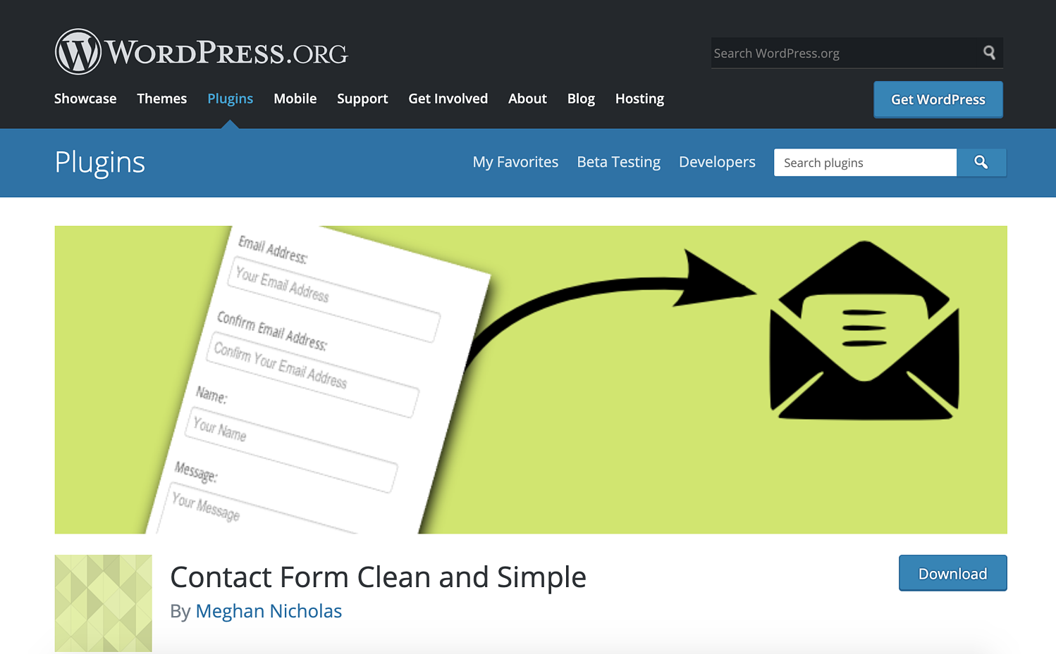 contact form clean and simple wordpress contact form plugin