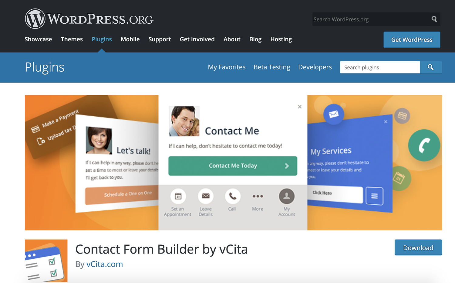 contact form builder plugin by vcita for wordpress
