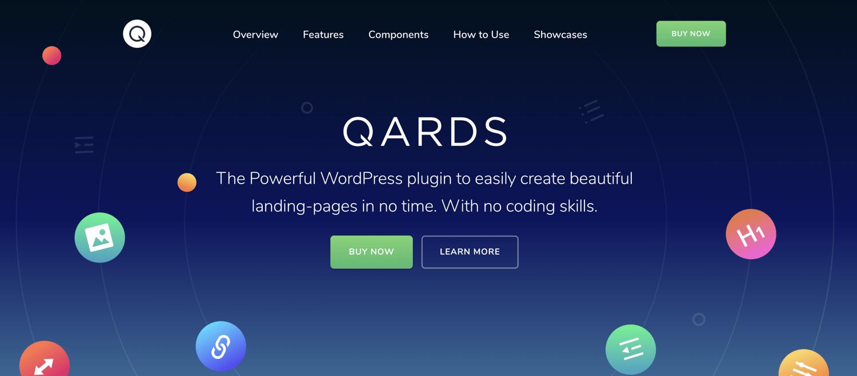 qards landing page wordpress plugin