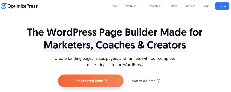 optimize press wordpress landing page plugin