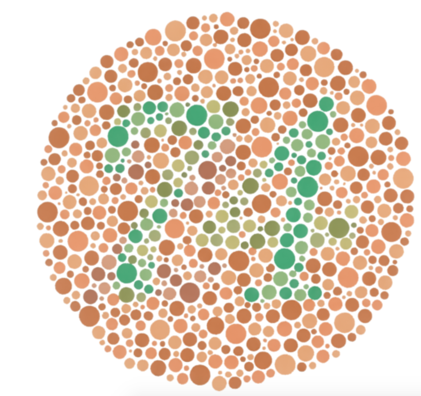 Ishihara red-green color blindness test showing the number 74