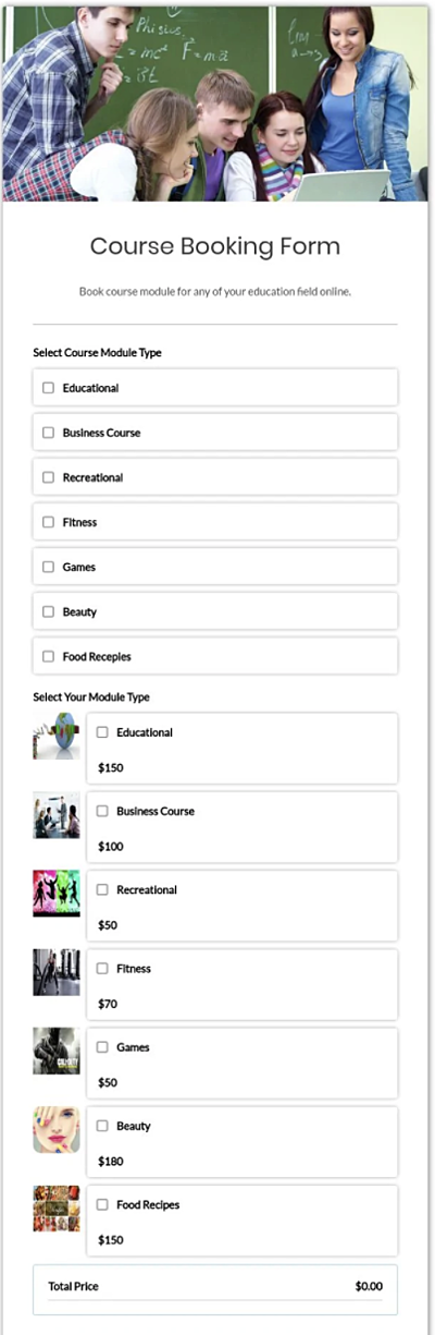 free booking form template learning booking form template