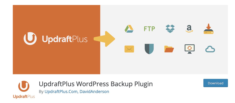 updraft wordpress backup plugin