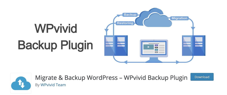 wpvivid wordpress backup plugin