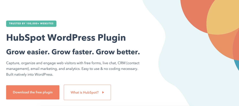 hubspot wordpress crm plugin