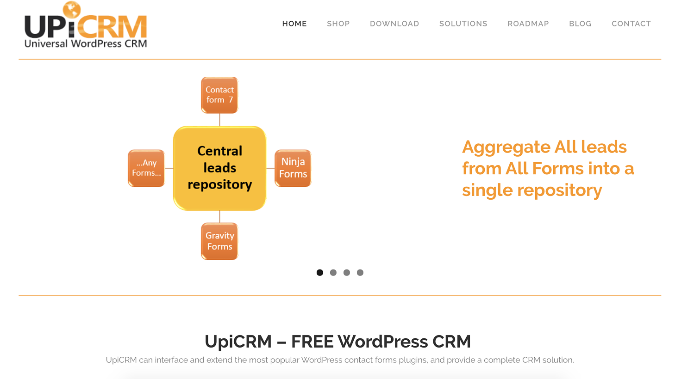 UpiCRM wordpress crm plugin