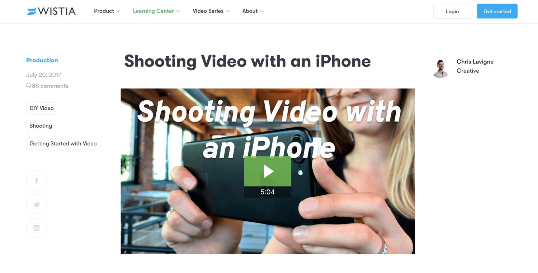 紫藤帮助视频创意的潜在顾客产生想法