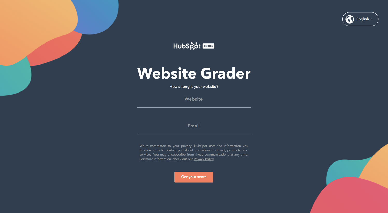 interactive tool hubspot website grader creative lead generation ideas