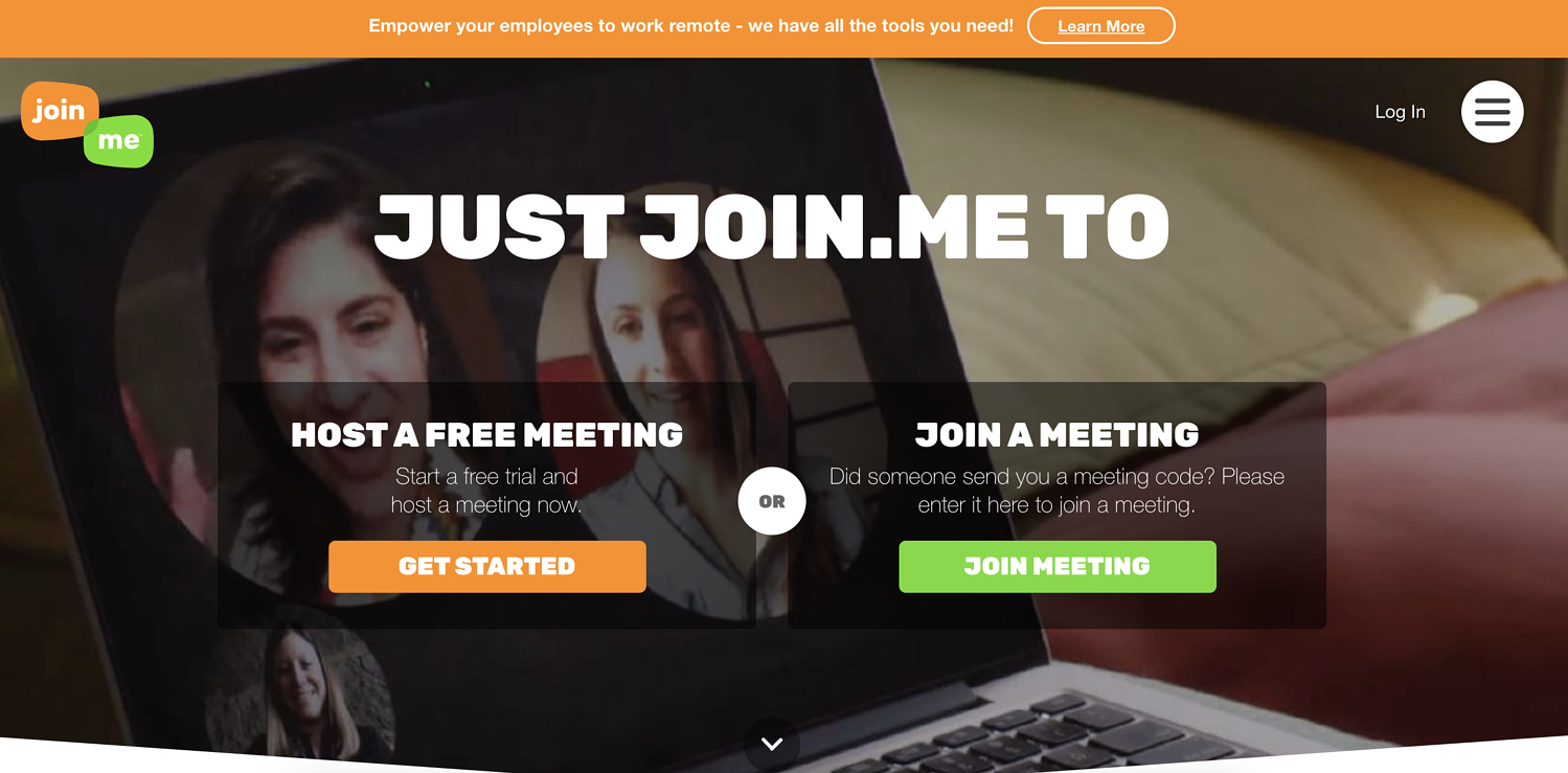 join.me remote work tool